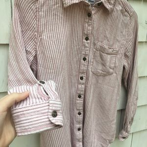SONOMA Women's Button Down Pink Collared Shirt